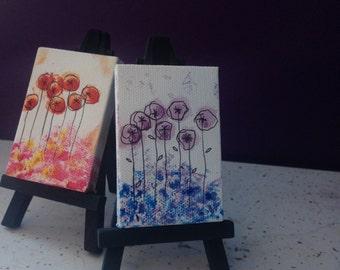 Acrylic on Mini Canvas