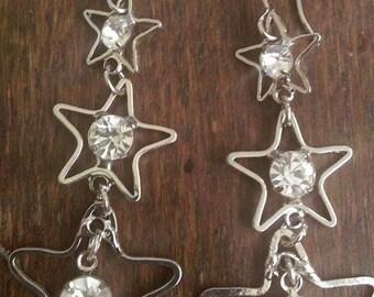 Silver Star Earrings.