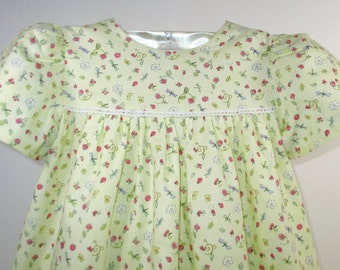 EVIE - Tea Party Dress - Size: 2T, Yellow, Pink, Lace, Clothing, Girls' Clothing, Dresses, Girl's Dress, Birthday, Gift, Cotton, Handmade