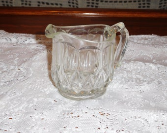 Vintage Crystal Creamer  4 inches(FREE SHIPPING)