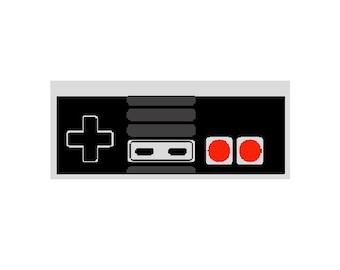 Nintendo NES Controller Embroidery Design File