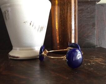 Blue Glass Beaded Bangle