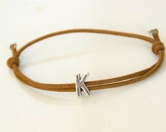 Mens Initial bracelet Initial bracelet men Personalized  bracelet for men Bracelet with initial Customized  Valentines day gift for him