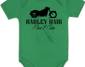 Harley hair dont care Infant Onesie Romper Bodysuit