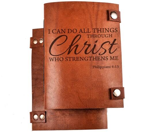 Bible journal - Christian journal - Bible notebook - Christian notebook - Bible quote - Philippians 4:13 - NKJV