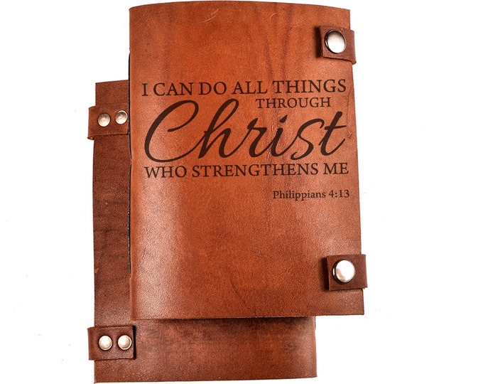 Bible journal - Christian journal - Bible notebook - Christian notebook - Bible quote - Philippians 4:13 - NKJV