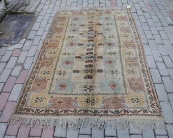 Vintage Turkish Rugs, Milas Carpet, Pastel Colours
