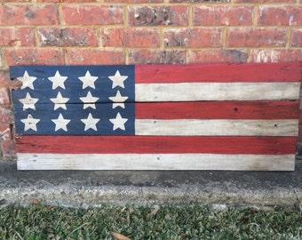 Reclaimed Wooden American Flag, Handmade Wooden American Flag, Wood American Flag, Rustic Wooden American Flag, Reclaimed Wood American Flag