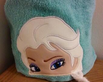 Frozen Elsa Hooded Towel