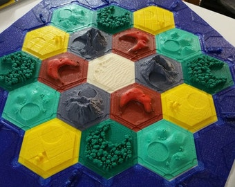 Settlers of Catan 3D Pieces, Board Game Pieces