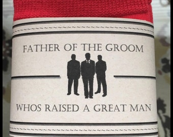 Father of the Groom Sock Label Template
