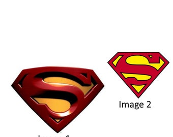 Superman Inspired Halloween Costume Logo Iron On Transfer