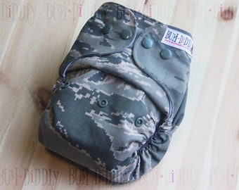 Military Diapers - Air Force Diapers - Cloth Diapers - Adjustable Diapers - PUL Cover - Pocket Diaper - Diaper Cover