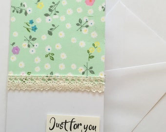 Green floral card - perfect for any occasion