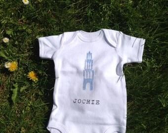 Utrecht Baby Onesie Utrecht Boy Handprinted White