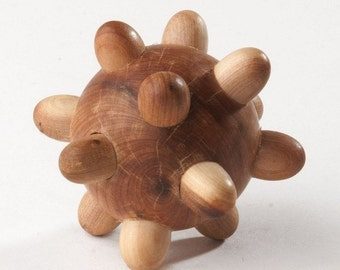 Wooden Tactile Toy , Organic Sensory Toy , Wooden Hedgehog , Toys for toddlers ,  Wooden Toys for Kids