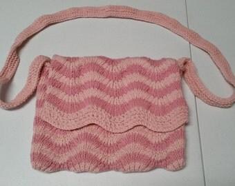 Knit purse, knit handbag, knit bag, knit satchel