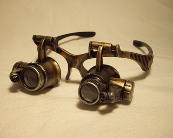 Steampunk goggles, LED goggles, steamgoth, edwardian, neo victorian