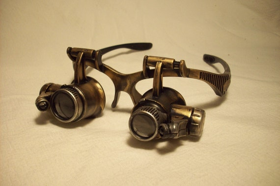 Steampunk goggles LED goggles steamgoth edwardian neo