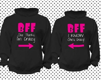 BFF Best friend forever  matching hoodies **BOTH