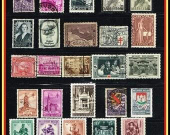 Vintage Belgian Semi-Postals - Older Back-of-The-Book Belgium