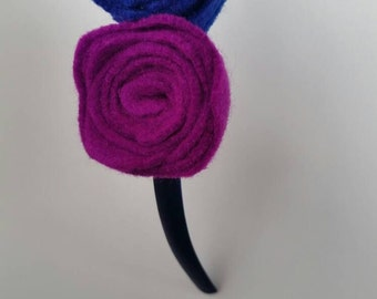 Pink and navy Hairband