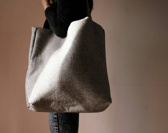Fabric bags/canvas/cloth bag/bolsas de Grey and green