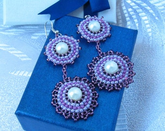 seed bead earrings long beaded earrings gift for women beaded earrings earrings designs homemade earrings  modern earring earring with pearl
