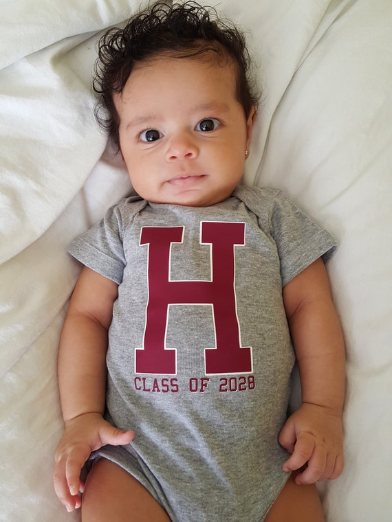 Custom Letterman Onesie with Initial - Customize with your childs Initial