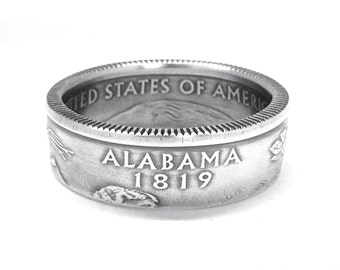 90% Silver State Quarter Coin Ring (pick your State)