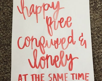 22 Taylor Swift Quote Watercolor Print