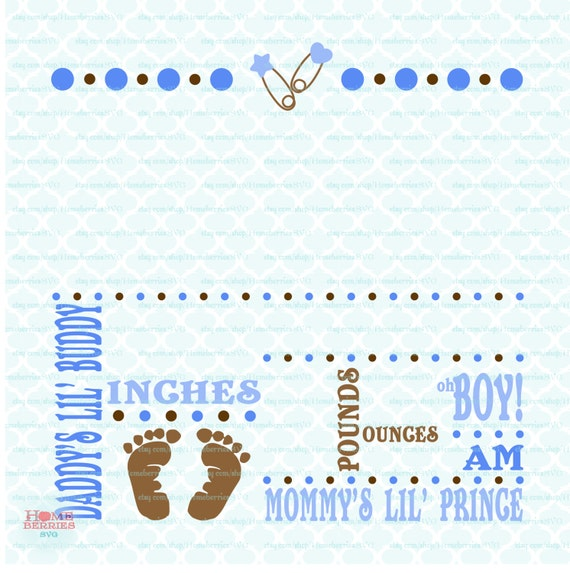 Birth Announcement Template svg Birth svg Baby svg – Baby Boy Birth Announcements Templates