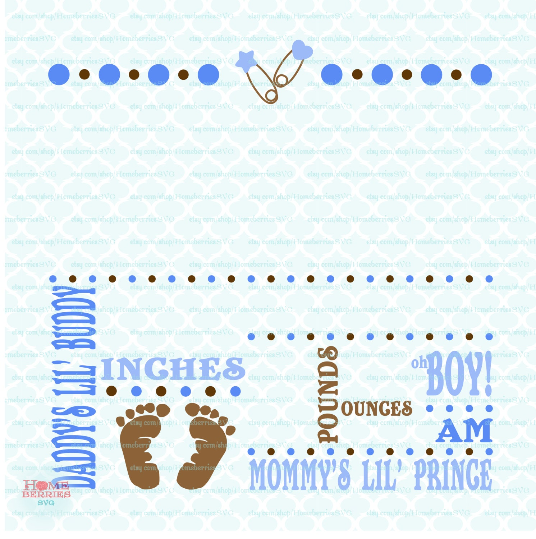 Birth announcement template svg birth svg baby svg for Baby announcement template free