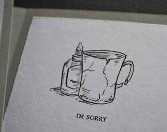 "Repaired Teacup ""I'm Sorry"" Card"