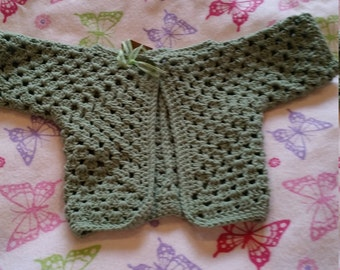 Baby's first long sleeved cardigan