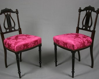 Pair of Antique Victorian Mahogany Chairs