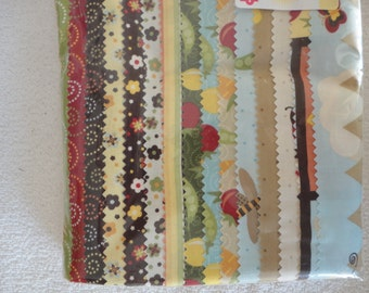 Fabric Pack:  Garden Patch Fabric Fat Quarter Bundle and Yardage by DV Studio for South Sea Imports