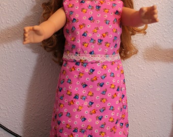 Pink printed long skirt and top