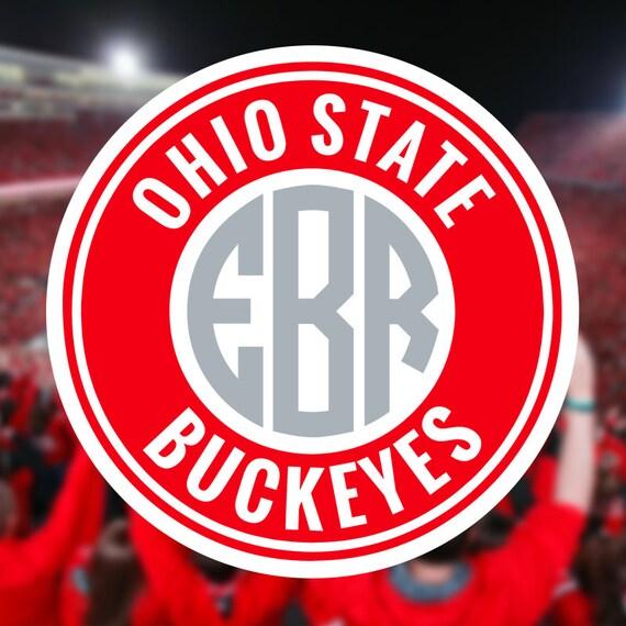 Ohio State Buckeyes Monogram Frame Cutting Files In Svg Eps