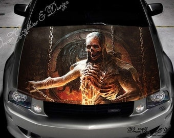 Evil Skull Full Color Graphics Adhesive Sticker Fit Any Car - Car decals designabstract full color graphics adhesive vinyl sticker fit any car