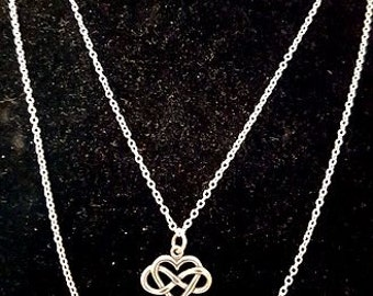Sterling Silver Heart & Inifinity Necklace