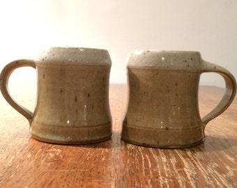 Pair of Handmade Vintage Mugs