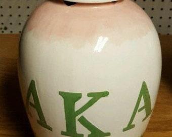 AKA alpha kappa Alpha Vase/ Urn