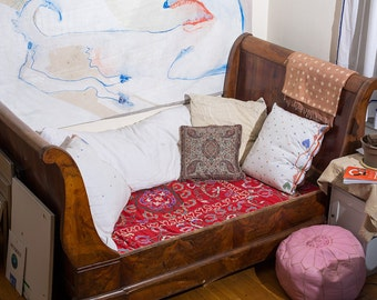 French Wooden Antique Daybed Queen size