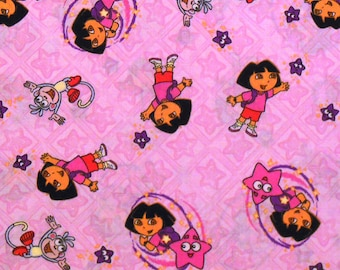 DORA the EXPLORER FABRIC - By the Half Yard - Boots - Out of Print!