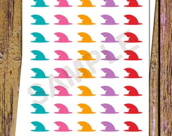 40 Shark Fin Period Tracker Stickers Planner Stickers Icon Stickers Period Stickers Blood Stickers Auntie Flo Stickers Fitness Stickers A55