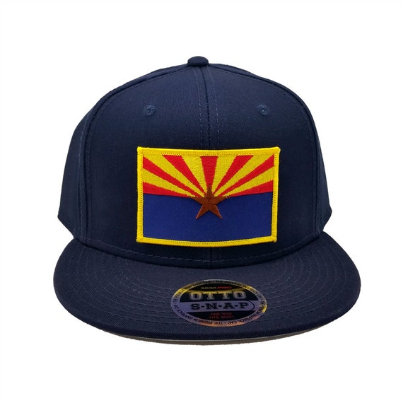 arizona us state flag us state flag patch flat bill snapback