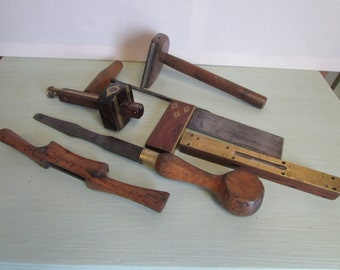 A set of antique carpentry tools