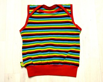 Tank top with multicolored stripes (12 months)