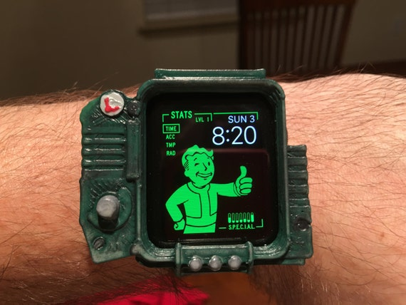 Fallout PipBoy case for Apple Watch 42mm 3D by Frighten3dPrints